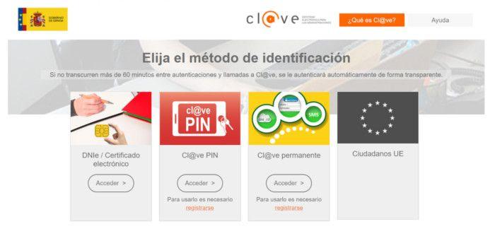 Identificación Cl@ve
