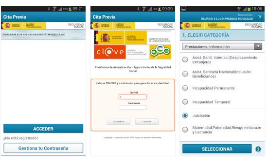 App Seg-Social Cita Previa
