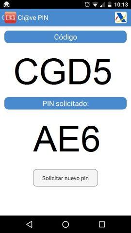 App Cl@ve PIN: Obtención de clave